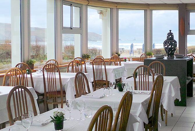 hotêl restaurant vue panoramique mer finistère sud